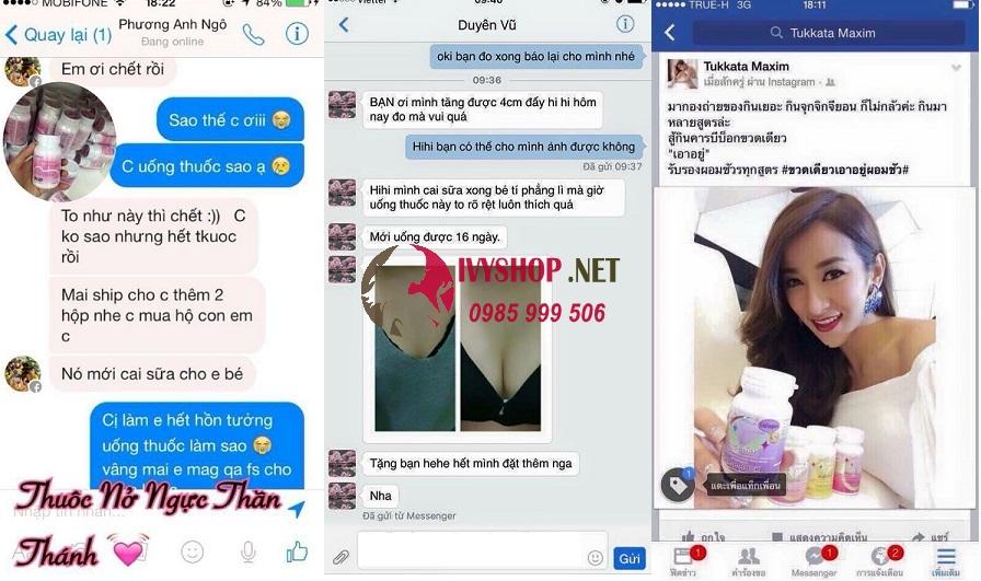 phản hồi của khách hàng khi sử dụng Pueraria Mirifica Thái Lan